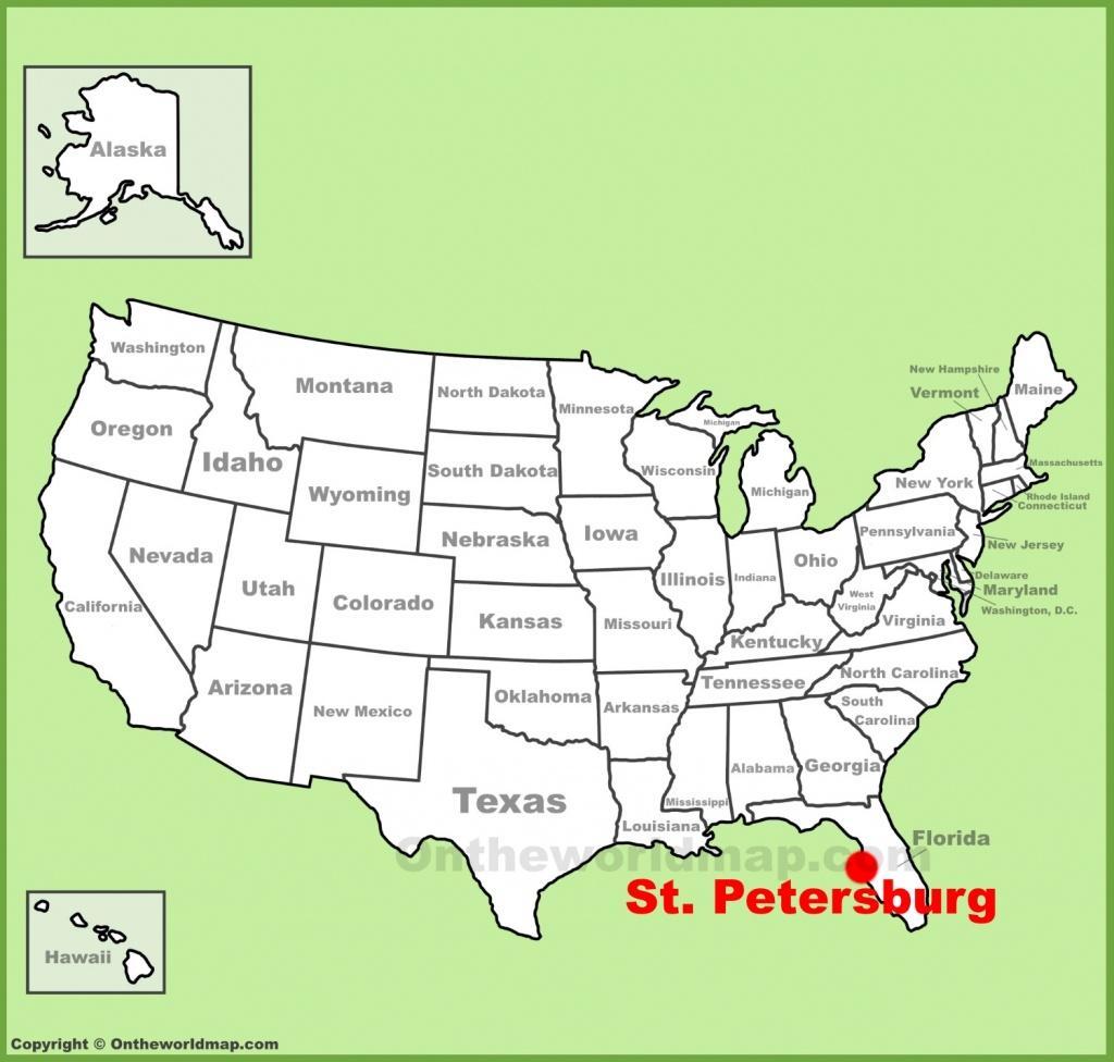 St. Petersburg Maps   Florida, U.s.   Maps Of St. Petersburg - St Pete Florida Map