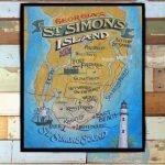 St. Simons Island Map Print From An Original Hand Lettered   Etsy - Printable Map Of St Simons Island Ga