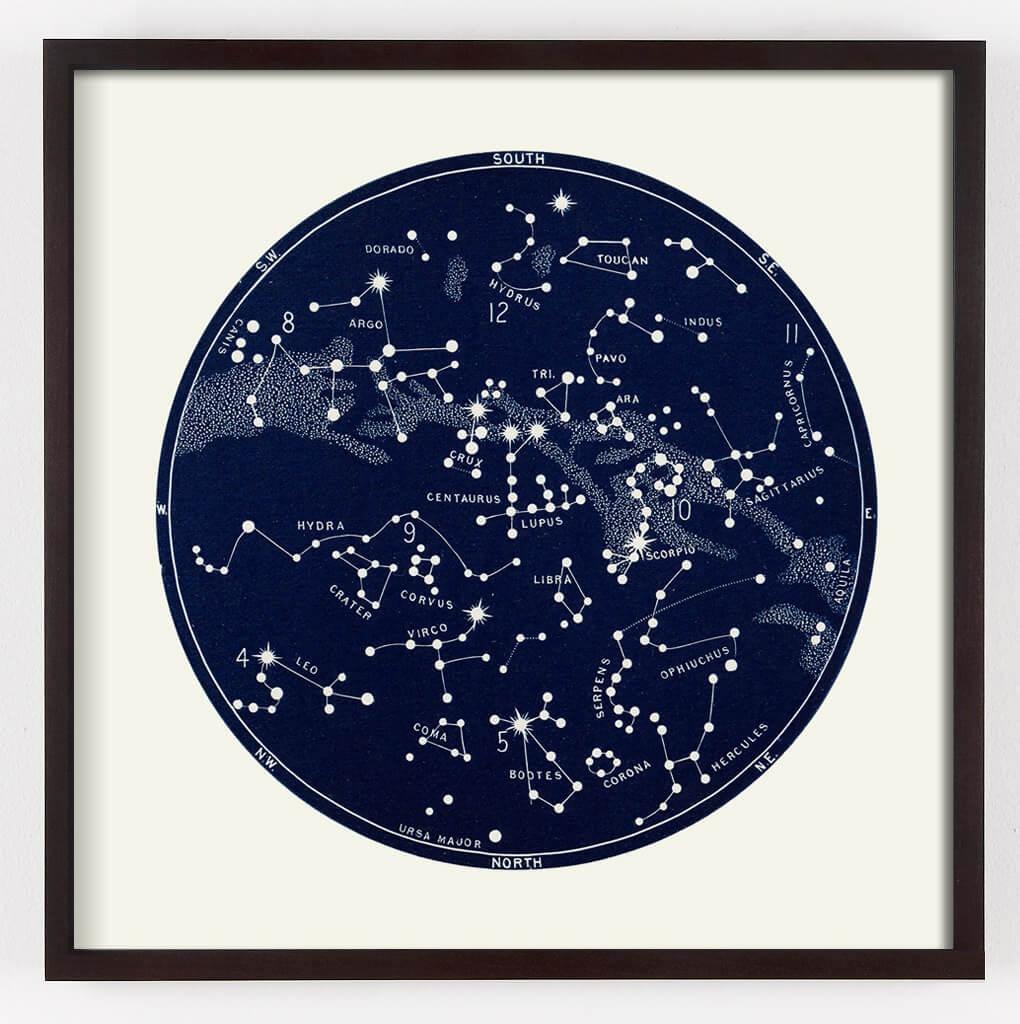 Star Map Constellation Print   Capricorn Press - Printable Star Map