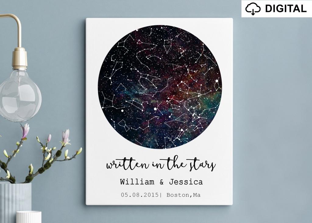 Star Map Printable Night Sky Wall Art Night Sky Print | Etsy - Printable Star Map By Date