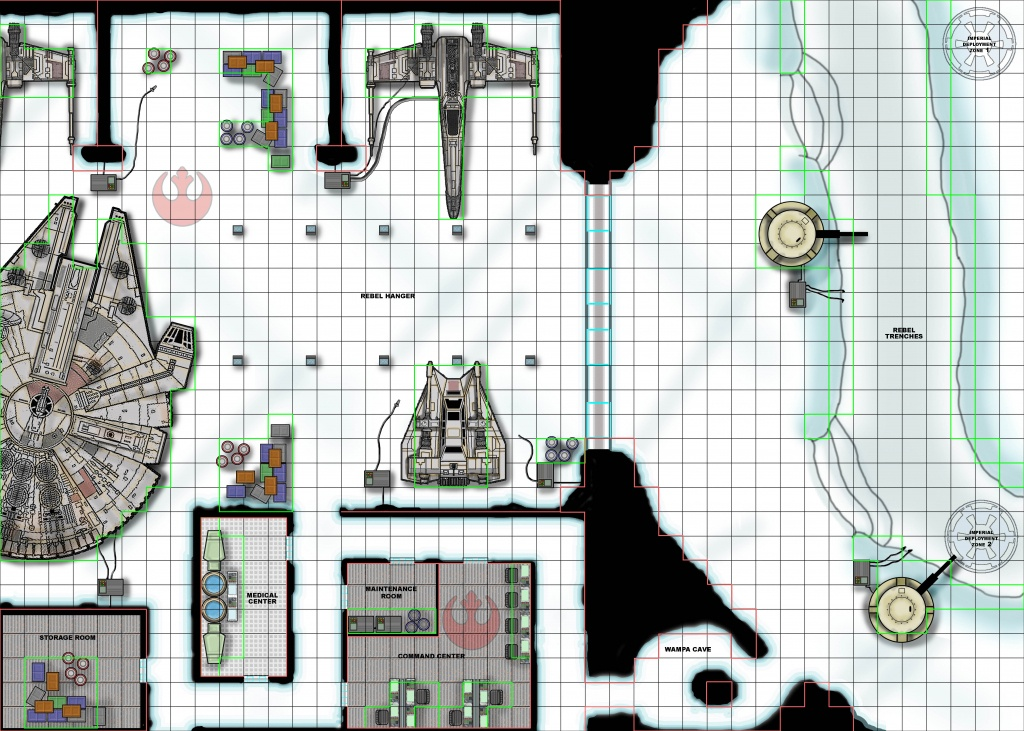 Star Wars Miniatures Scenarios - Star Wars Miniatures Printable Maps
