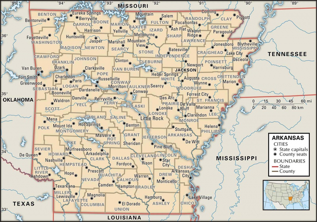 State And County Maps Of Arkansas - Printable Map Of Arkansas