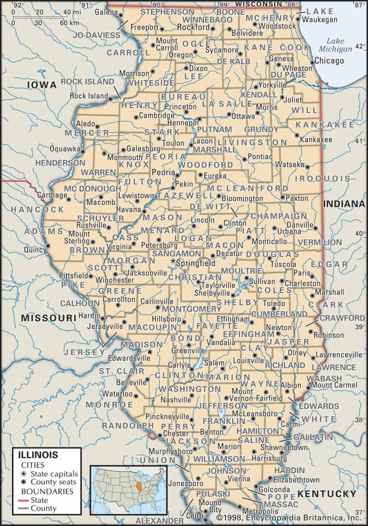 State And County Maps Of Illinois - Illinois County Map Printable