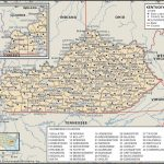 State And County Maps Of Kentucky   Printable Map Of Kentucky Counties