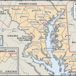 State And County Maps Of Maryland - Printable Map Of Maryland