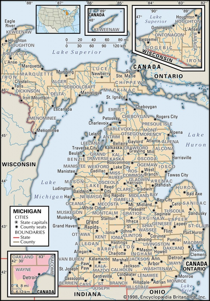 State And County Maps Of Michigan - Michigan County Maps Printable