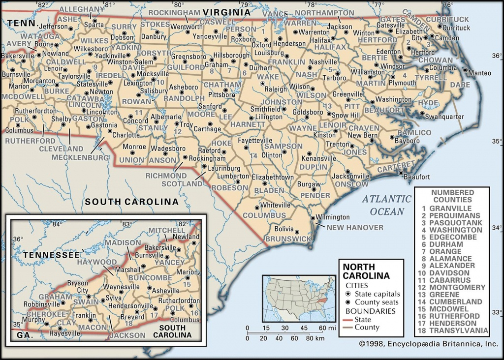 State And County Maps Of North Carolina - Printable Street Map Of Greenville Nc