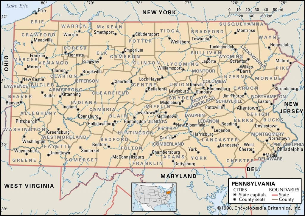 State And County Maps Of Pennsylvania - Pa County Map Printable