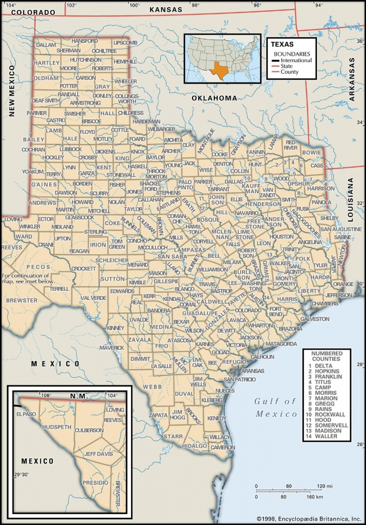 State And County Maps Of Texas - Map Of Texas Coastline Cities