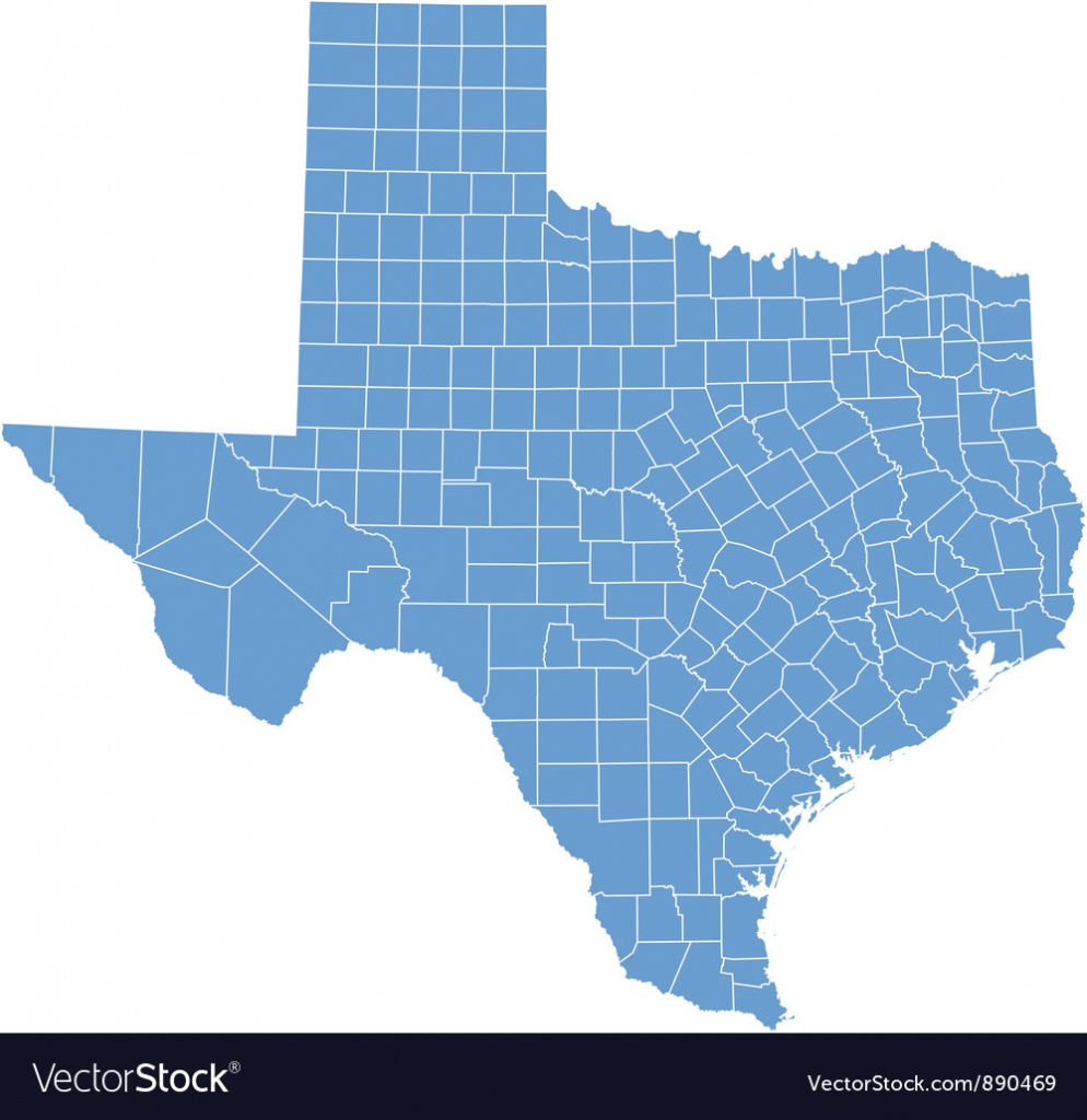 State Map Of Texascounties Royalty Free Vector Image - Texas Map Vector Free