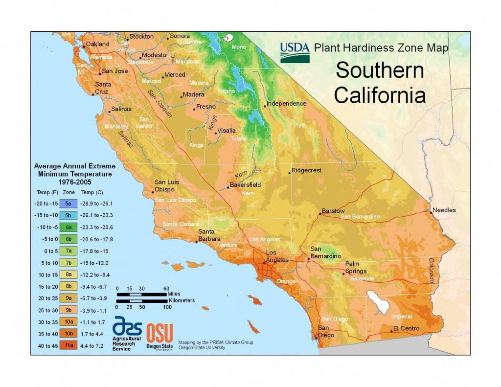 State Maps Of Usda Plant Hardiness Zones - California Hardiness Zone Map