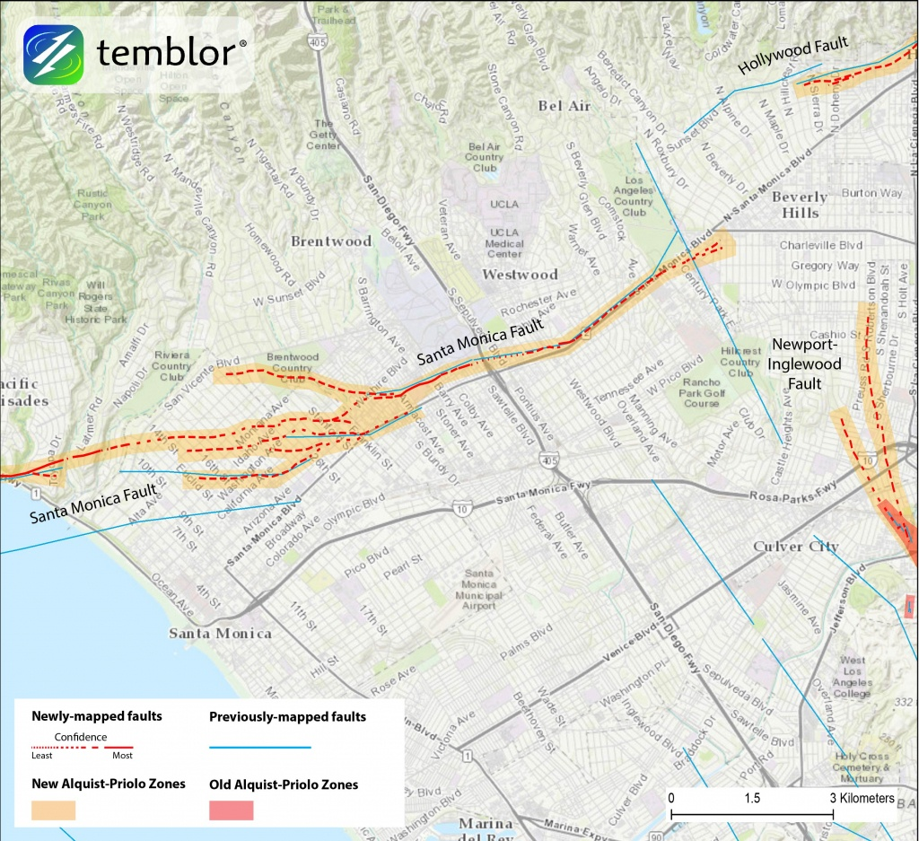 State Redraws Active Fault Strands In Hollywood, Beverly Hills, And - California Geological Survey Maps