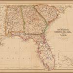 States Of South Carolina, Georgia, Alabama And Florida   Barry   Us Map Of Alabama And Florida