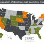 States With The Highest (And Lowest) Taxes For Retirees | Money   Florida Property Tax Map