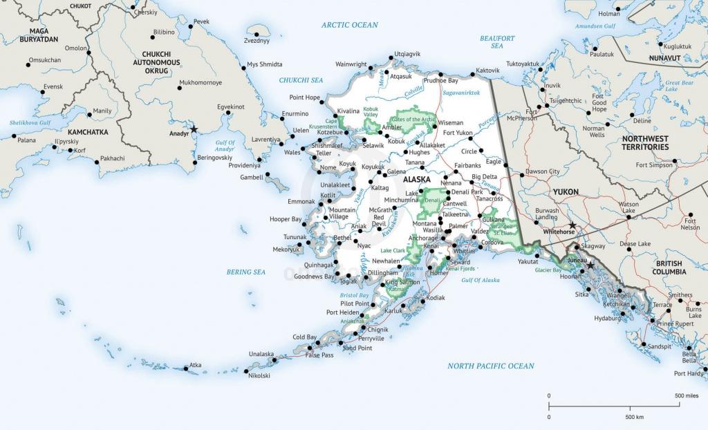 Stock Vector Map Of Alaska | One Stop Map - Printable Map Of Alaska