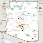 Stock Vector Map Of Arizona | One Stop Map - Printable Map Of Arizona