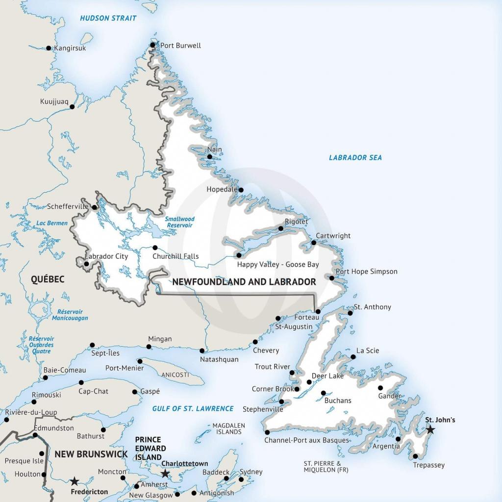 Stock Vector Map Of Newfoundland And Labrador   One Stop Map - Printable Map Of Newfoundland