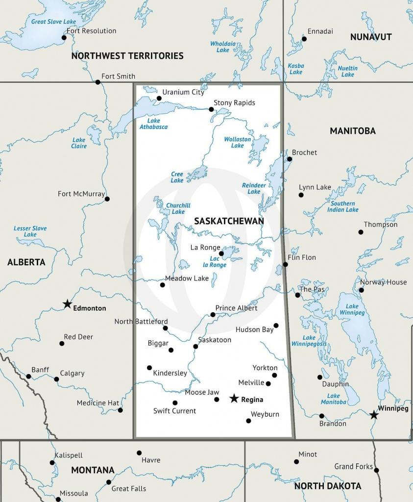 Stock Vector Map Of Saskatchewan   One Stop Map - Printable Map Of Saskatchewan