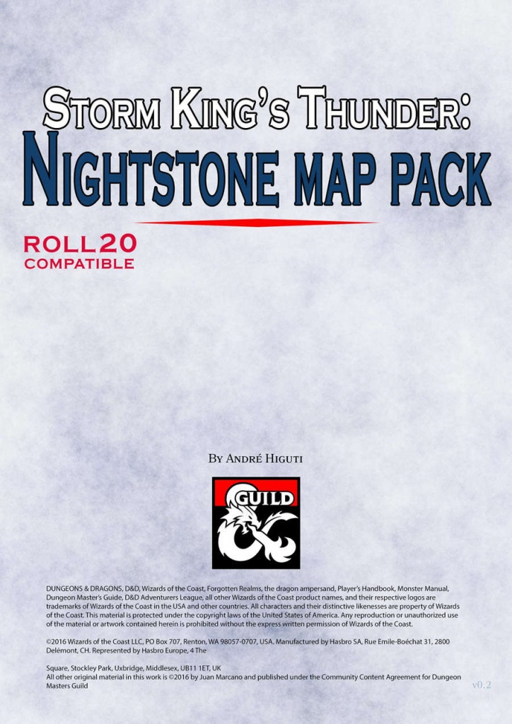 Storm King's Thunder: Nightstone Map Pack - Dungeon Masters Guild - Storm King's Thunder Printable Maps