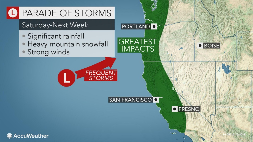 Storm Train To Resume Along Us West Coast This Weekend - Northern California Radar Map