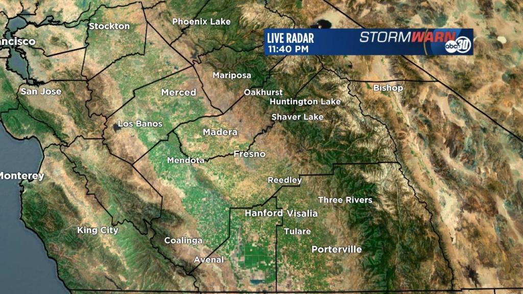Stormwarn 30 Radar | Abc30 - Current Weather Map California