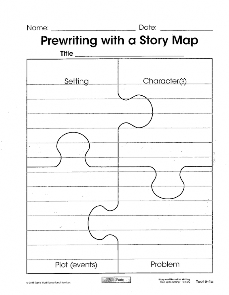 Story Map Puzzle Template | The Teacher Within Me | Graphic - Printable Story Map Graphic Organizer