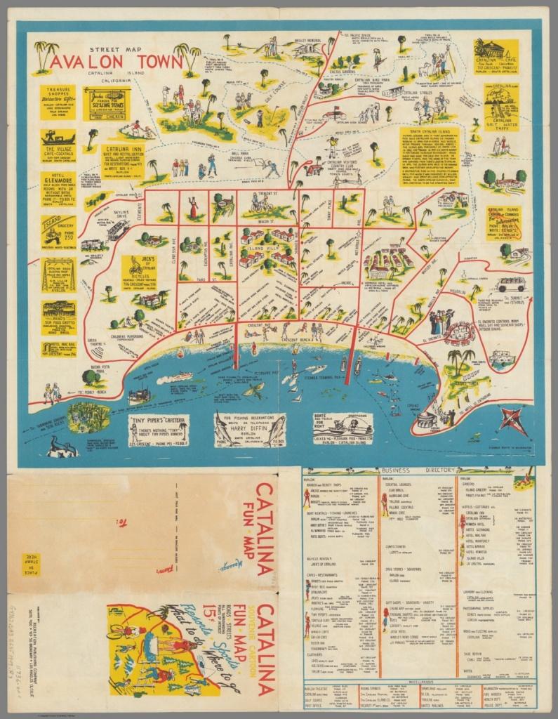 Street Map : Avalon Town Catalina Island California - David Rumsey - California Street Map