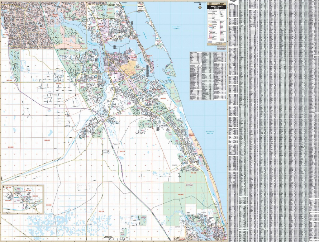 Stuart / Martin Co., Florida Wall Map – Kappa Map Group - Street Map Of Stuart Florida