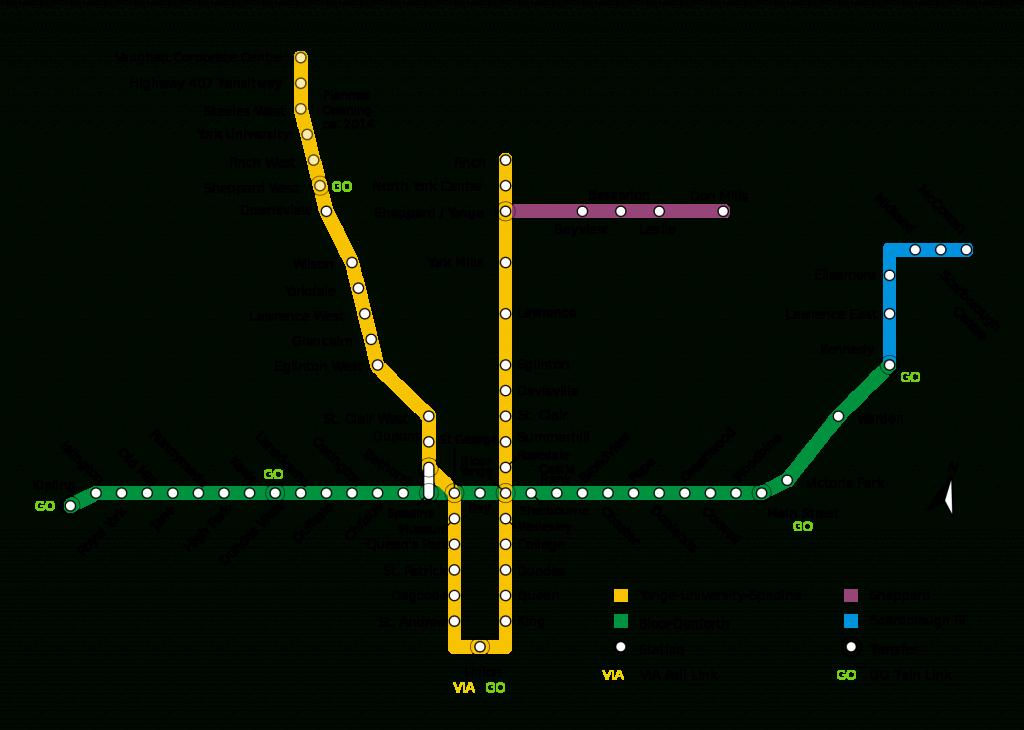 Subway: Toronto Metro Map, Canada - Toronto Subway Map Printable