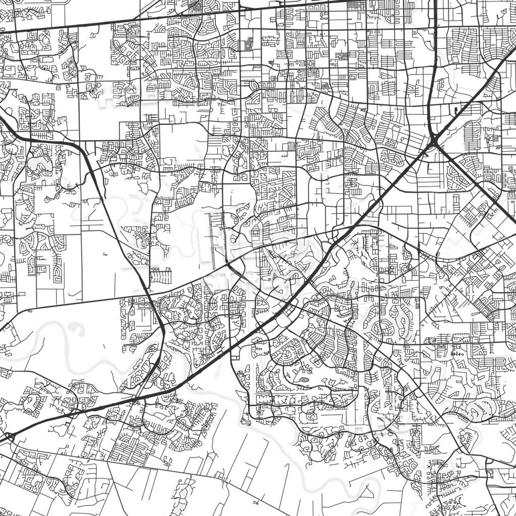Sugar Land, Texas - Area Map - Light | Hebstreits Sketches - Sugar Land Texas Map