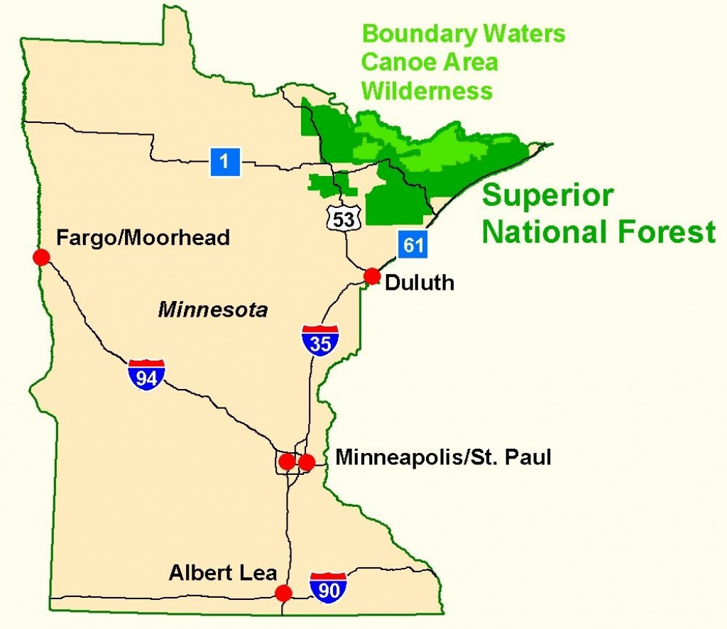 Superior National Forest - Maps & Publications - Printable Map Of Minnesota