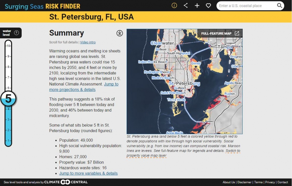 Surging Seas: Sea Level Rise Analysisclimate Central - Florida Map After Global Warming