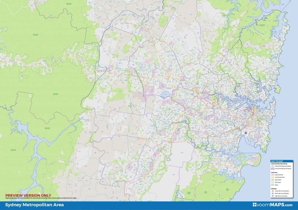 Sydney Suburbs Map – Voommaps - Printable Map Of Sydney Suburbs