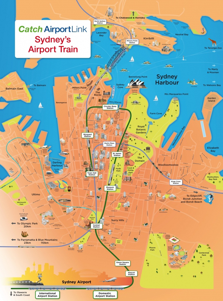 Sydney Tourist Attractions Map - Sydney City Map Printable
