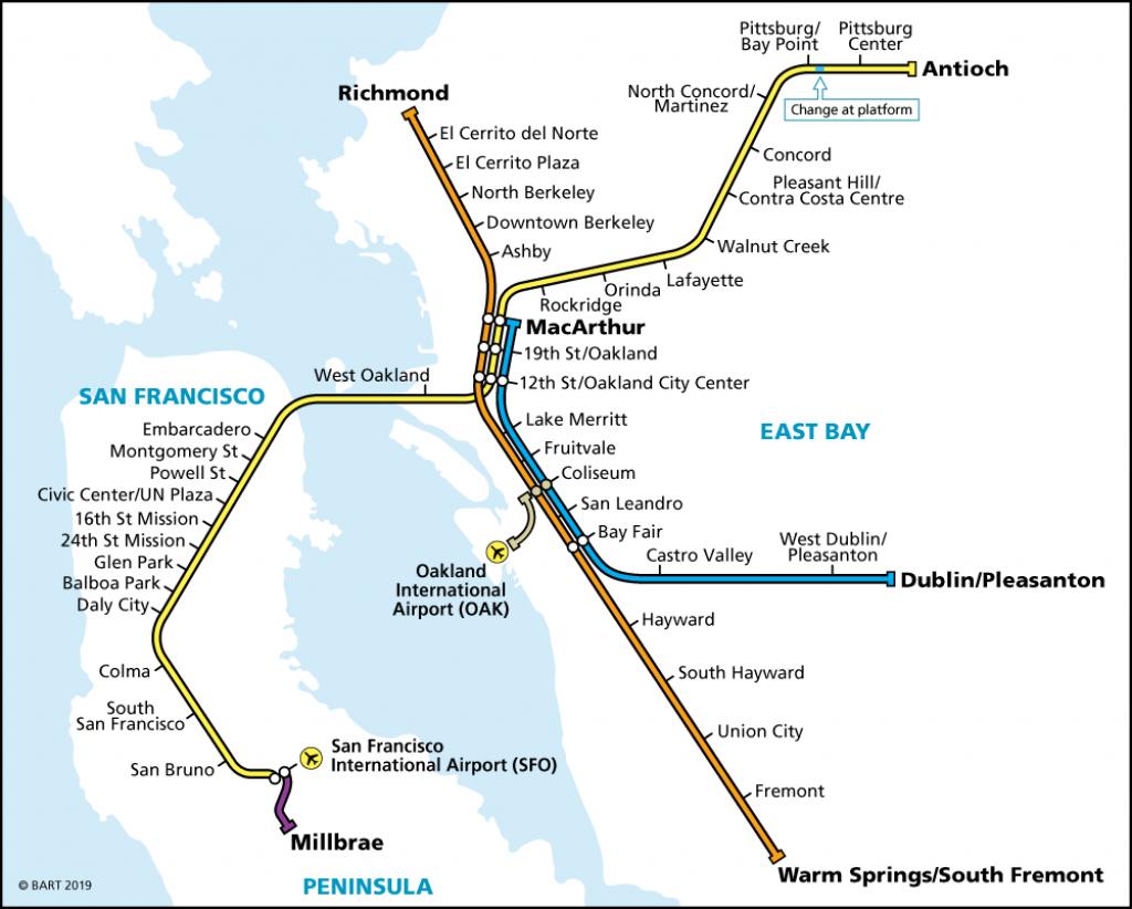 System Map | Bart.gov - Printable Bart Map