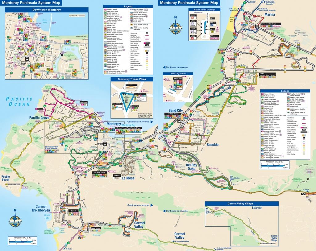 System Maps | Monterey-Salinas Transit - Monterey Beach California Map
