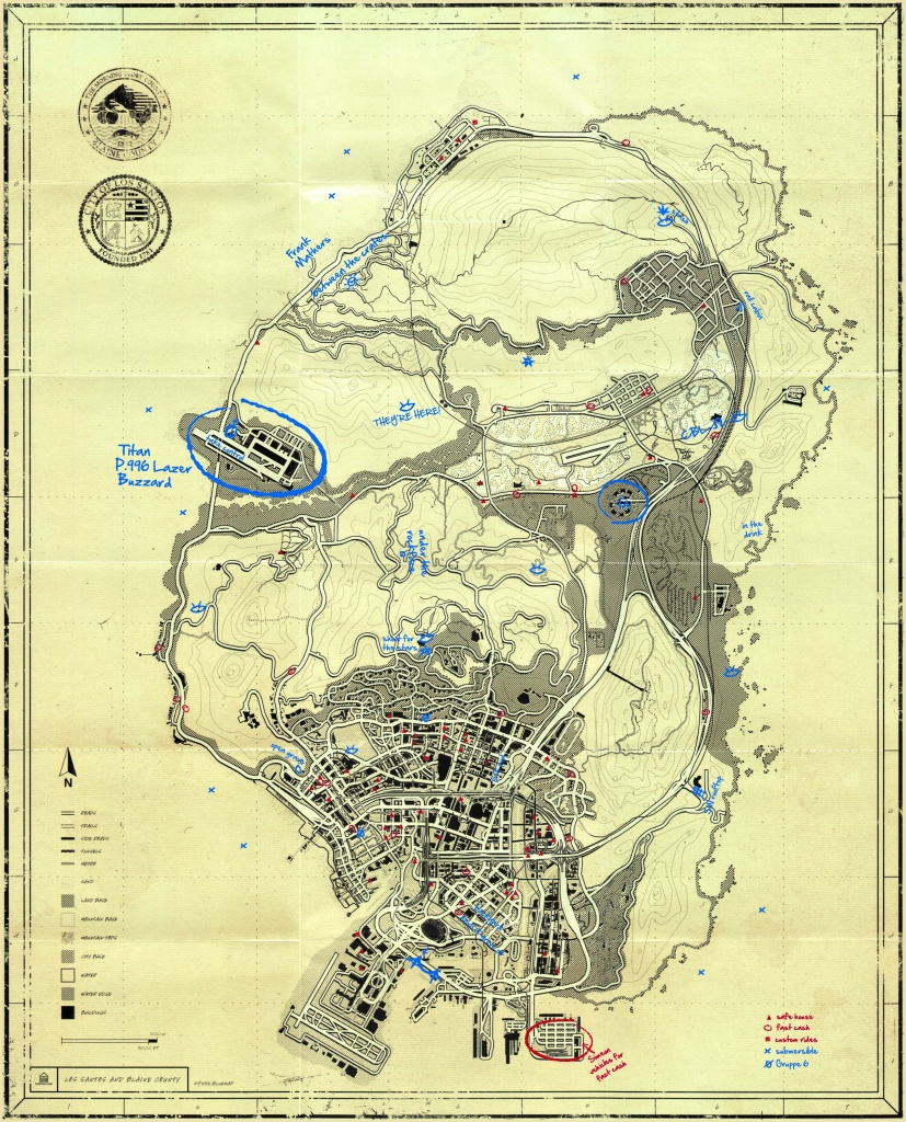 T.p.e Blueprint Map Secrets - Gta 5 Wiki Guide - Ign - Gta 5 Map Printable