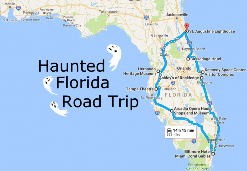 Take This Awesome Road Trip To Florida's Most Haunted Places - Florida Road Trip Map