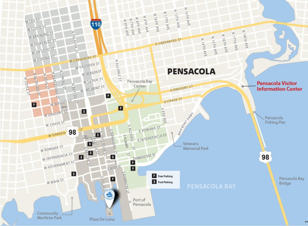 Tall Ships Pensacola® Festival Parking & Traffic Maps - Where Is Pensacola Florida On A Map