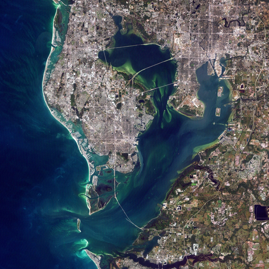 Tampa Bay, Florida - Map Of Tampa Florida Beaches