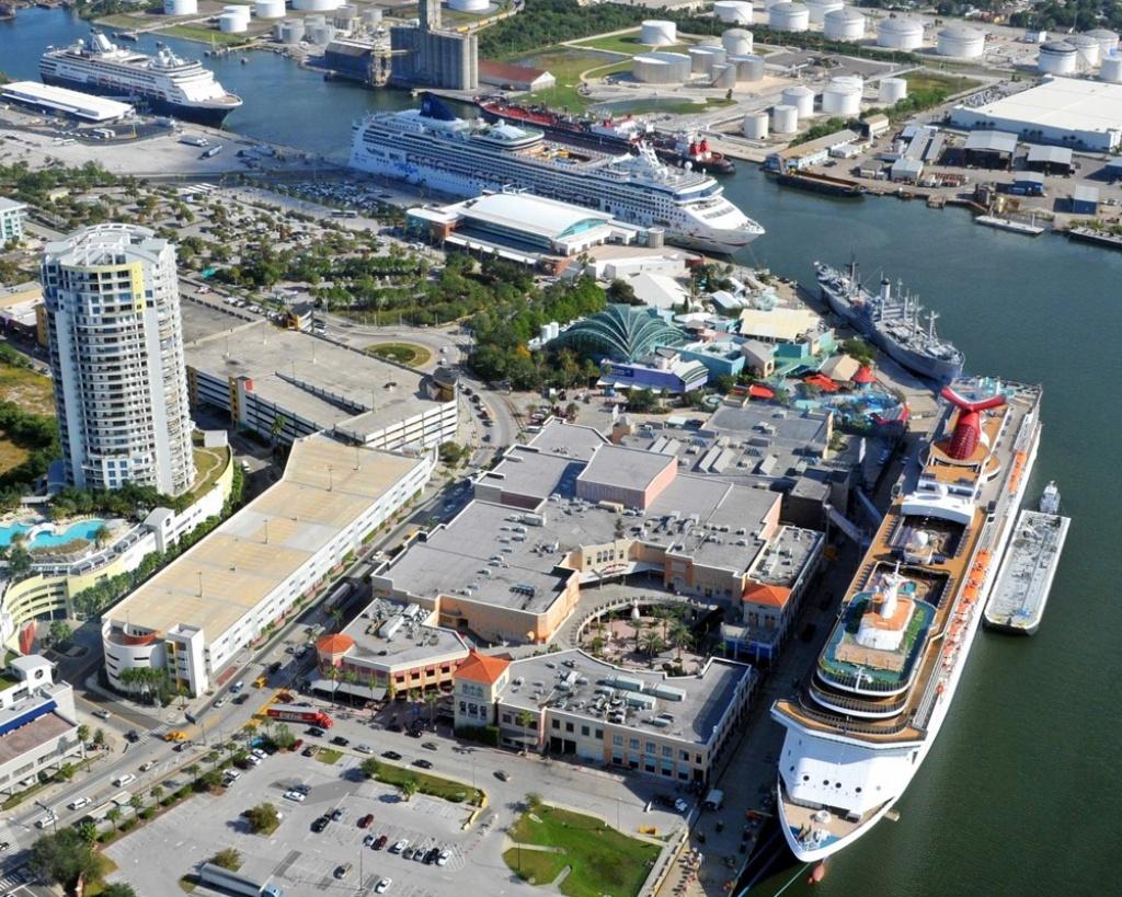 Tampa (Florida) Cruise Port Schedule | Cruisemapper - Cruise Terminal Tampa Florida Map