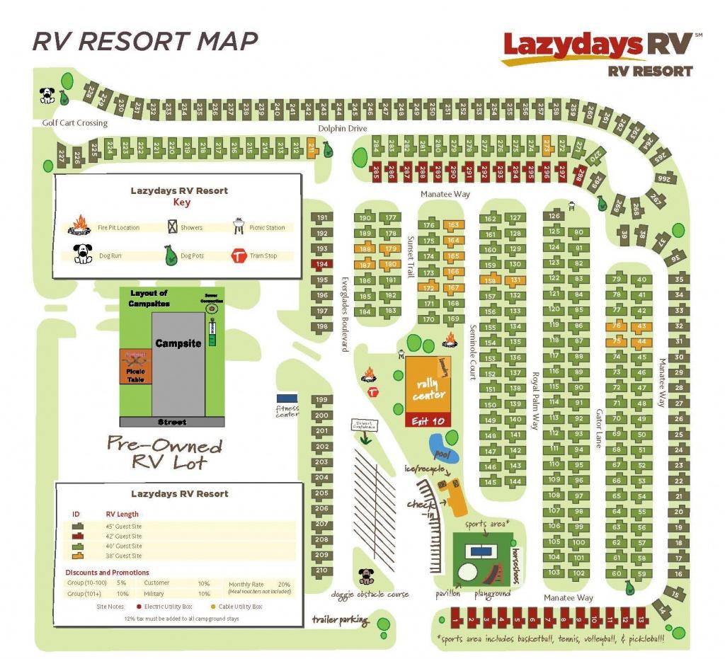 Tampa Rv Resort Map | Lazydays Rv In Tampa, Florida - Map Of Rv Parks In Florida