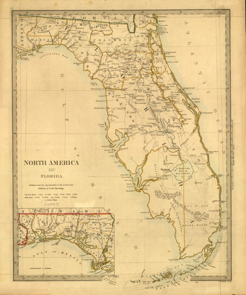 Tanner's Map Of Florida From 1833.   Florida Memory   Florida Maps - Old Florida Road Maps