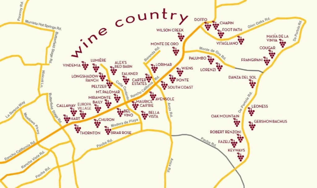 Temecula Wine Country Map | San Diego In 2019 | Temecula Wineries - Temecula Winery Map Printable