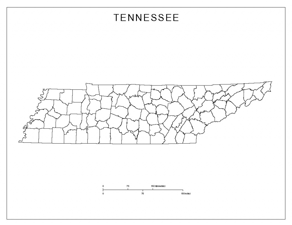 Tennessee Blank Map - Printable Map Of Tennessee Counties