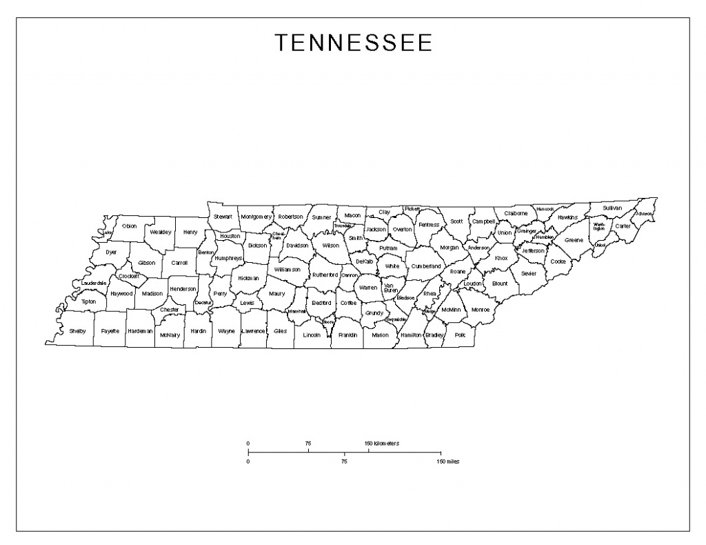 Tennessee Labeled Map - Printable Map Of Tennessee