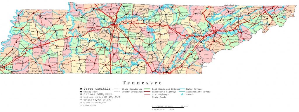 Tennessee Printable Map - Printable Map Of Tennessee Counties And Cities