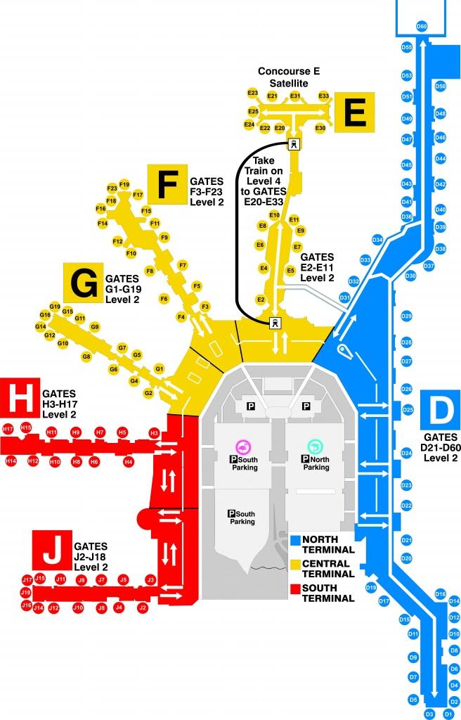 Terminal Gates - Miami International Airport - Florida Airports Map