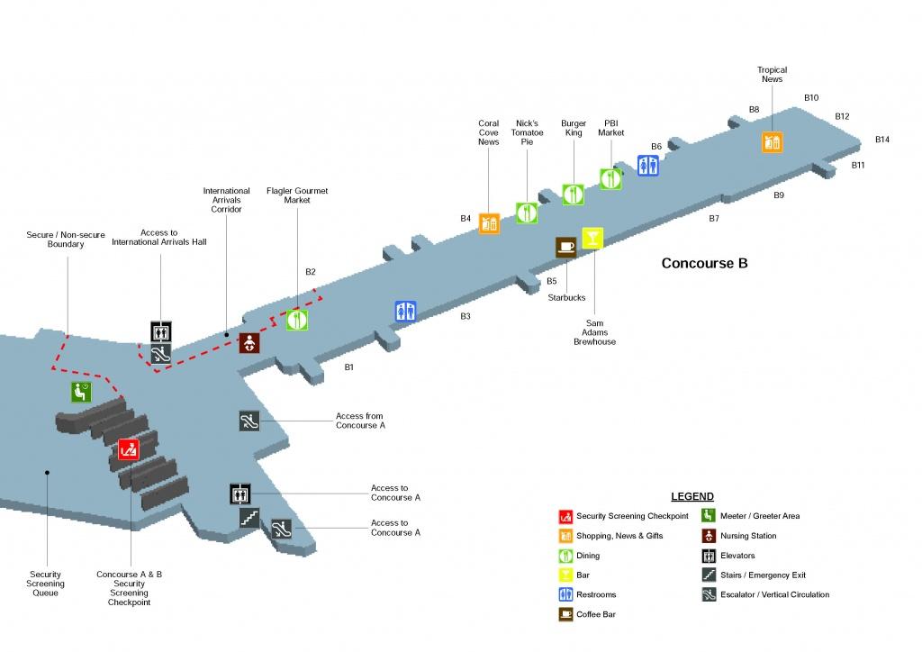 Terminal Maps   Palm Beach International Airport - Florida Airports Map