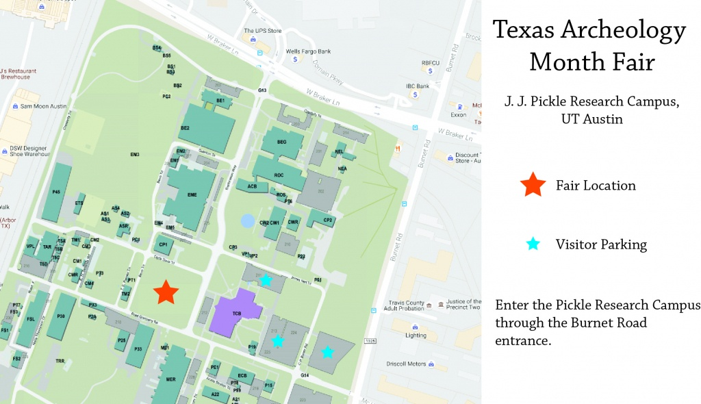 Texas Archeology Month Fair 2018 | The Tarl Blog - Map Of The Domain In Austin Texas